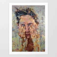 blue nails Art Print