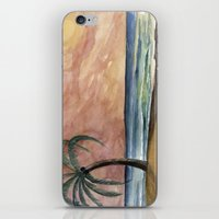 The Waves At Sunset iPhone & iPod Skin