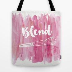 Pink Vanity Decor, Makeup Brush Illustration, Watercolour Tote Bag