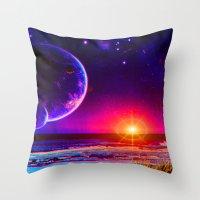 Tranquility Beach Throw Pillow