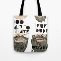the beard chart of dudeliness Tote Bag