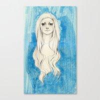 Long Hair Canvas Print