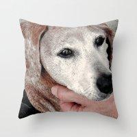 Portrait Of A Dachshund Throw Pillow