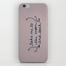 To The Moon iPhone & iPod Skin