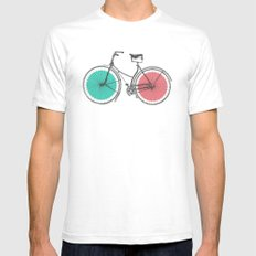 3D Bike Mens Fitted Tee SMALL White
