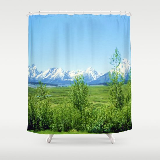 Spring Tetons Shower Curtain