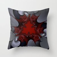Red Blue And Silver Spur… Throw Pillow