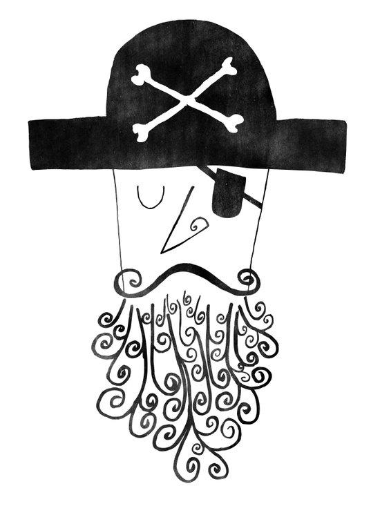smug pirate Art Print