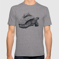 Tortoise Tree - Fall Mens Fitted Tee Athletic Grey SMALL