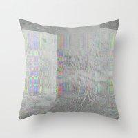 04-24-14 (Pink Cloud Bitmap Glitch) Throw Pillow
