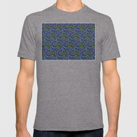 Lizzards Pattern. Mens Fitted Tee Tri-Grey SMALL