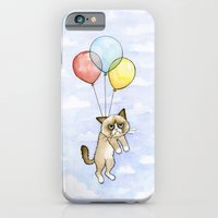 Cat With Balloons Grumpy… iPhone 6 Slim Case