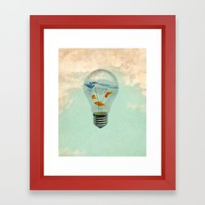 ideas and goldfish 02 Framed Art Print
