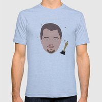 Leo Fan Shirt Mens Fitted Tee Athletic Blue SMALL