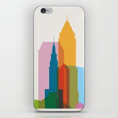 Shapes of Cleveland accurate to scale iPhone & iPod Skin