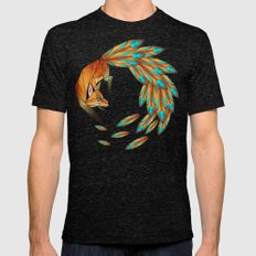 fox circle Mens Fitted Tee Tri-Black SMALL