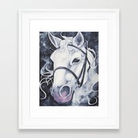 Pale White Horse Framed Art Print