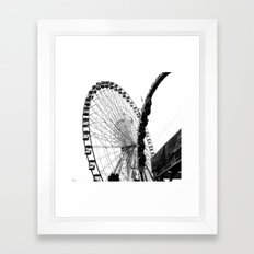 At the Fair: Round and Round Framed Art Print