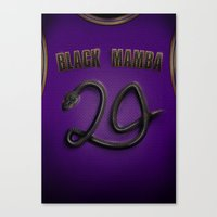24 The Number Of Mamba Canvas Print
