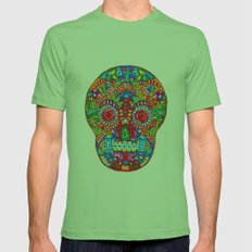 A really colourful skull Mens Fitted Tee Grass SMALL