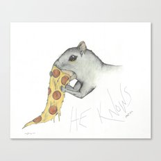 He knows Canvas Print