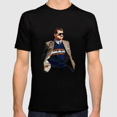 Geometric Ditka Black SMALL Mens Fitted Tee