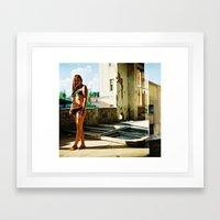 stofffabrik Framed Art Print