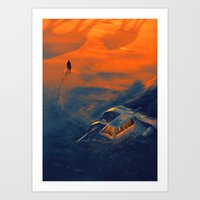 In the middle of nowhere Art Print