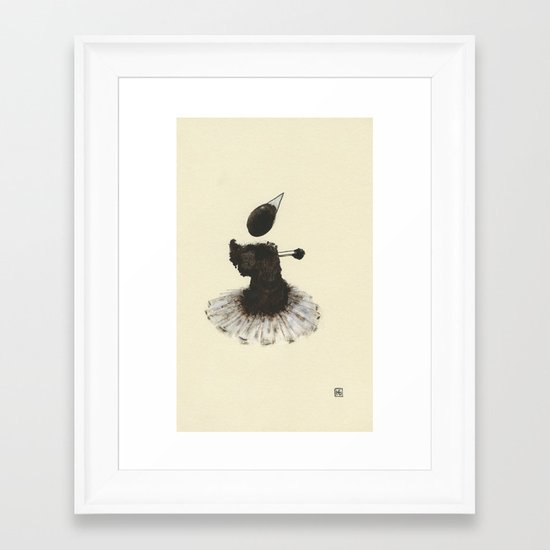 Dancer with Heart Framed Art Print