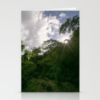jungle greens Stationery Cards