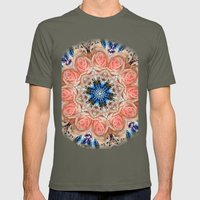 Roses in abstact Mens Fitted Tee Lieutenant SMALL