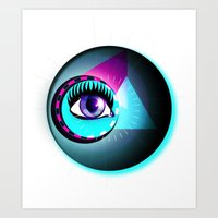Halftone Eyeball Art Print