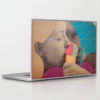 ice cream Laptop & iPad Skins featuring ice cream by Marco Puccini