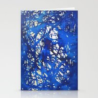 Tangled in Blue Stationery Cards