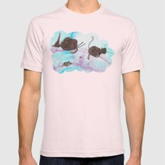 rainbow Mens Fitted Tee Light Pink SMALL