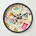 Seaside Cycle Wall Clock