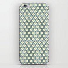 Grey Graphic Flower iPhone & iPod Skin