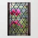 Stained glass window by nature Canvas Print