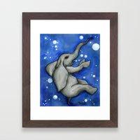 The Drowning Elephant Framed Art Print