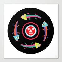 Circles Of Gators Canvas Print