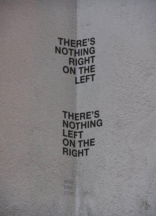 Left/Right Art Print