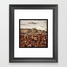 Love Locks Paris Framed Art Print