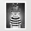 Fisher Man B/W Art Print