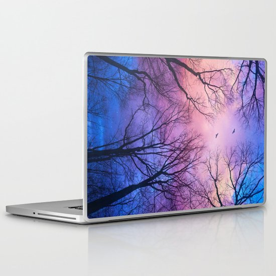 A New Day Will Dawn  (Day Tree Silhouettes) Laptop & iPad Skin