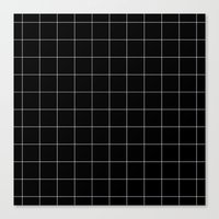 Black Grid /// www.pencilmeinstationery.com Canvas Print