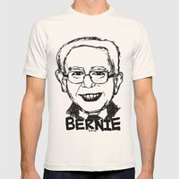 Bernie Sanders 2016 Mens Fitted Tee Natural SMALL