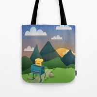 Over The Hills Tote Bag