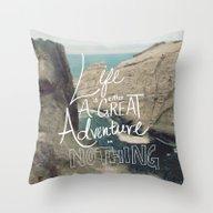 Great Adventure Throw Pillow