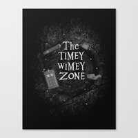 The Timey Wimey Zone Canvas Print