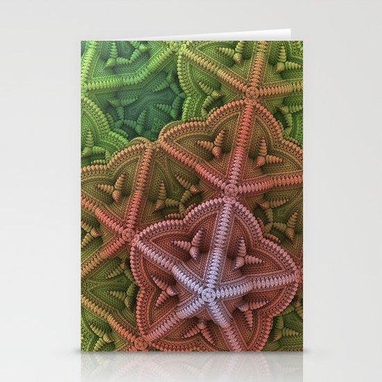 Fractal Starfish Stationery Card